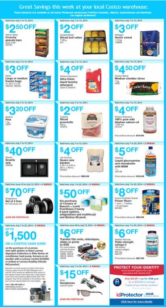 Costco Weekly Handout Instant Savings Coupons West (July 7-13)