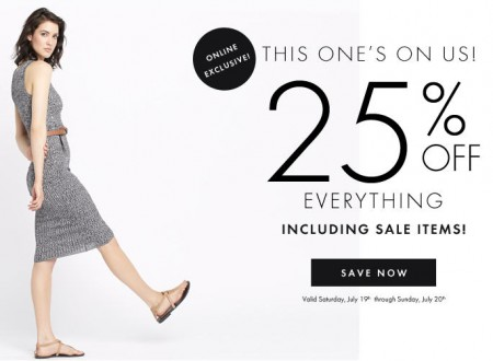 Dynamite Clothing 25 Off Everything + Free Shipping on All Orders (July 19-20)