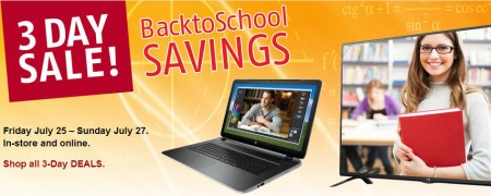 Future Shop 3-Day Sale - Back to School Savings (July 25-27)