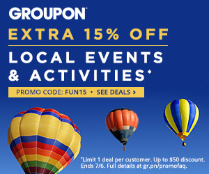 Groupon.com - Extra 15 Off Local Events & Activities Deal Promo Code (July 4-6)