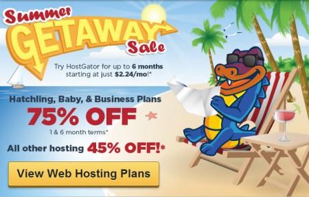 HostGator Summer Sale - 75 Off All Shared Web Hosting Packages (July 24-27)