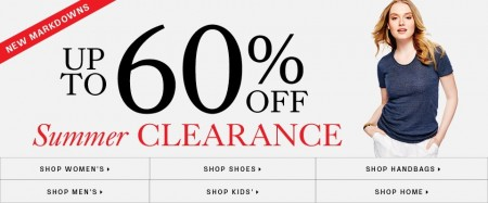 Hudson`s Bay Summer Clearance Sale - Save up to 60 Off (Until July 15)