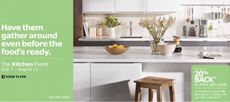 IKEA Kitchen Event - Get up to 20 Back in IKEA Gift Cards on Kitchen Purchases (Until Aug 11)
