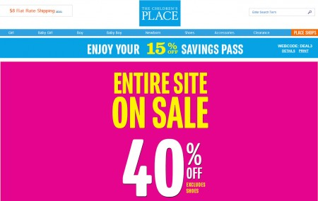 The Children's Place 40 Off Entire Store + Extra 15 Off Coupon (Until July 29)