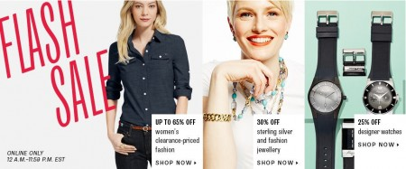 TheBay Flash Sale - Extra 25 Off Women's Clearance Fashion, 25 Off Designer Watches, and 30 Off Jewellery (July 16)