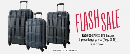 TheBay.com Flash Sale - 68 Off Samsonite 3-Piece Luggage Set (June 25)