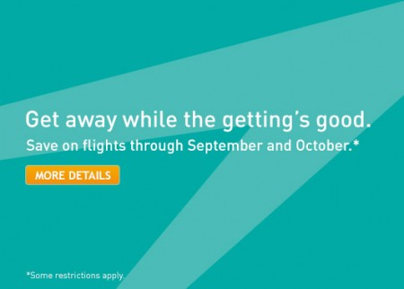 WestJet Save on Flights & Vacation Packages (Book by July 23)