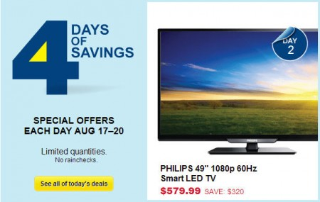 Best Buy 4 Days of Savings - Special Offers Each Day (Aug 17-20)