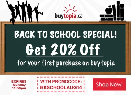 Buytopia Extra 20 Off All Deals Promo Code (Aug 23-24)