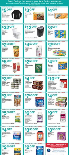 Costco Weekly Handout Instant Savings Coupons West (Aug 18-24)