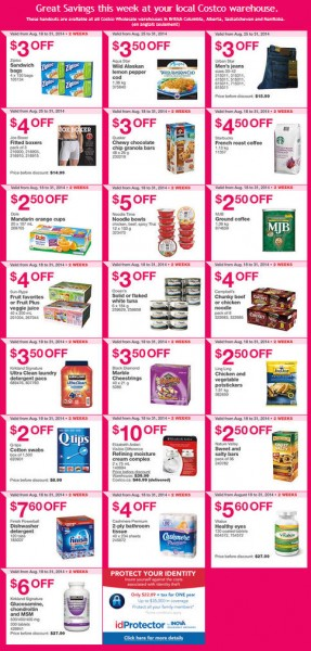 Costco Weekly Handout Instant Savings Coupons West (Aug 25-31)