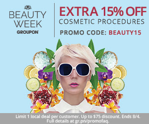Groupon Extra 15 Off Local Cosmetic Procedure Deals Promo Code (Aug 3-4)