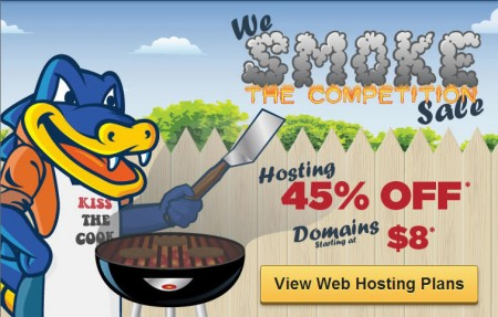 HostGator 45 Off Web Hosting Packages + $8 Domains (Aug 19 Only)