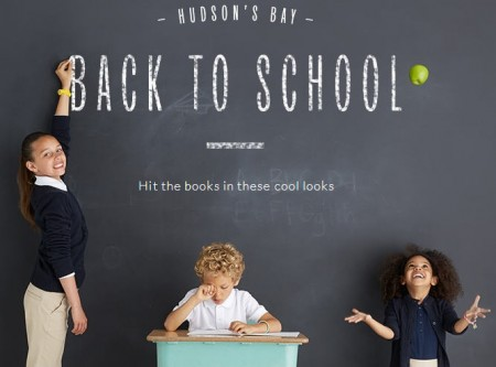 Hudson's Bay Back to School - Up to 50 off Clothing, Shoes, Bags and more (Until Sept 15)