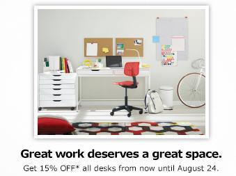 IKEA 15 Off All Desks (Until Aug 24)