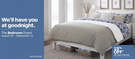 IKEA The Bedroom Event - 15 Off All Bed Frames (Aug 25 - Sept 15)