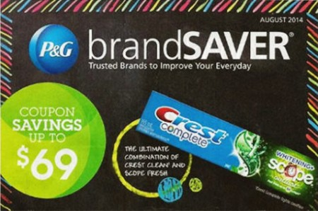 P&G brandSAVER New August 2014 Printable Coupons - Save up to $69 in Coupon Savings