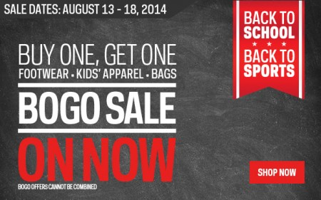 Sport Chek Footwear BOGO Sale + Spend & Get Event (Aug 13-18) A