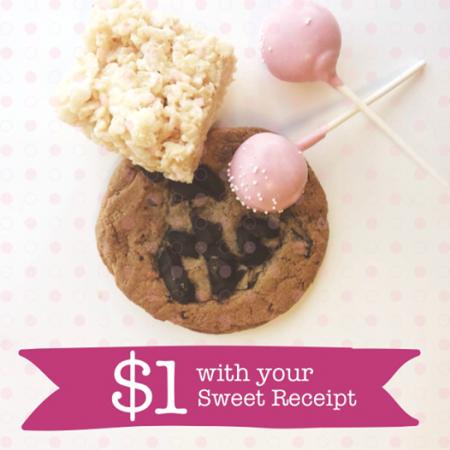 Starbucks Sweet Receipt - Bring Back Morning Receipt, Get a Bakery Item for $1 (Until Aug 31)