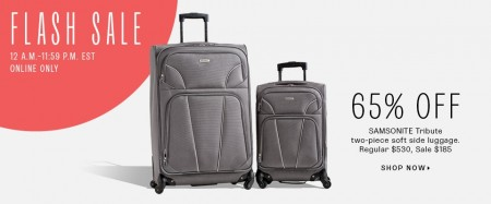 TheBay Flash Sale - 65 Off Samsonite Tribute 2-Piece Luggage (Aug 27)
