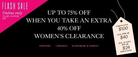 TheBay Flash Sale - Up to 75 Off Women's Clearance, 40 Off Clearance Lingerie, Sleepwear and Robes (Aug 20)
