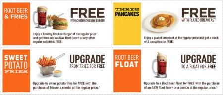 A&W New Printable Coupons (Until Oct 5)