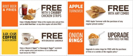 A&W New Printable Coupons (Until Sept 21)