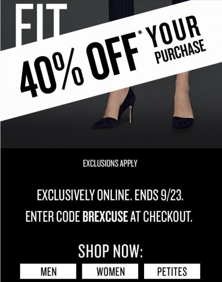Banana Republic 40 Off Your Online Purchase (Sept 22-23)