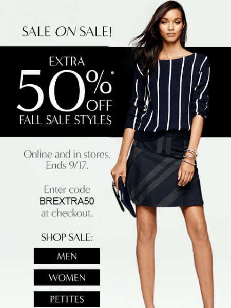 Banana Republic Sale on Sale - Extra 50 Off Fall Sale Styles (Until Sept 17)