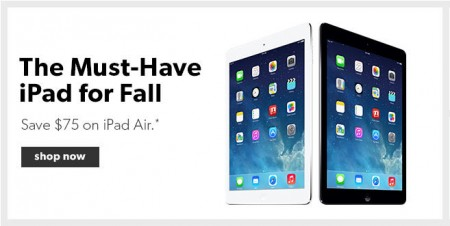 Chapters Indigo $75 Off Apple iPad Air (Until Sept 30)