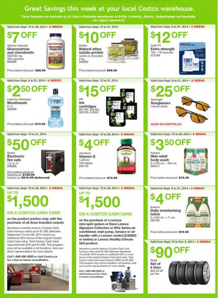 Costco Weekly Handout Instant Savings Coupons West (Sept 15-21)