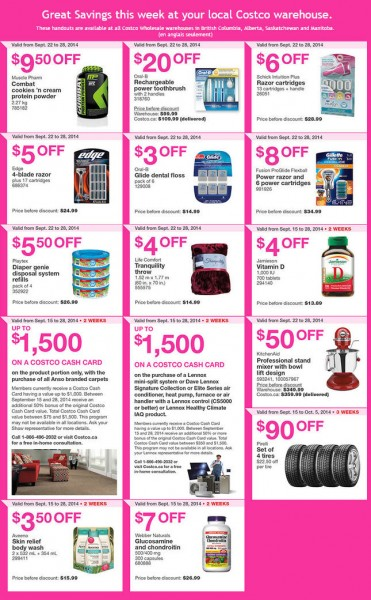 Costco Weekly Handout Instant Savings Coupons West (Sept 22-28)