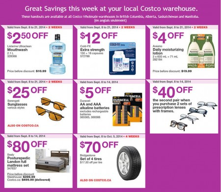 Costco Weekly Handout Instant Savings Coupons West (Sept 8-14)