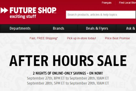 Future Shop After Hours Sale - Online Only (Sept 27-28)