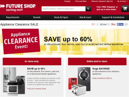 Future Shop Appliance Clearance Event - Save up to 60 Off