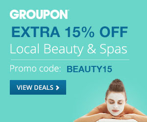 Groupon Extra 15 Off Beauty and Spa Deal Promo Code (Sept 24-26)