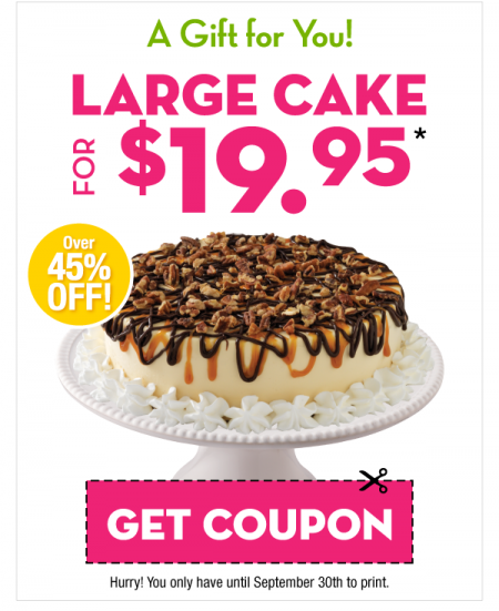Marble Slab Creamery $19.95 for Large Cake Coupon (45 Off)