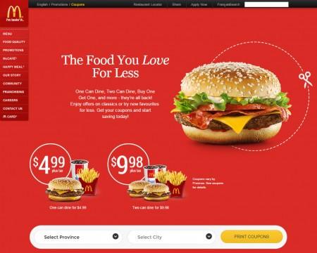 McDonald's New McDonalds Canada Coupons Sept