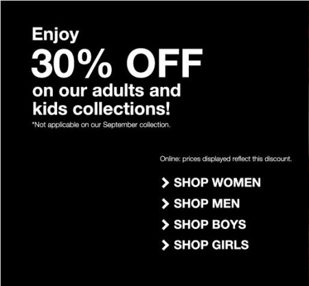 Mexx 30 Off Adults and Kids Apparel, Extra 50 Off Sale Items (Until Oct 1)