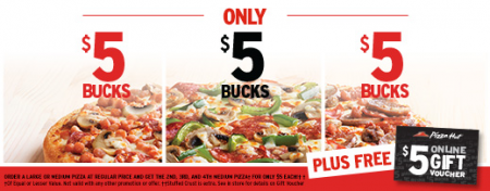 Pizza Hut $5 Bucks, $5 Bucks, $5 Bucks