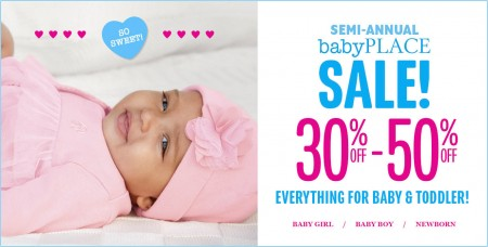 The Children's Place Semi-Annual Sale 30-50 Off Everything for Baby & Toddler + 15 Off Everything Coupon (Until Sept 9)