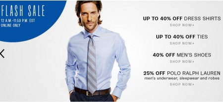 TheBay Flash Sale - 40 Off Men's Shoes, Shirts and Ties (Sept 10)
