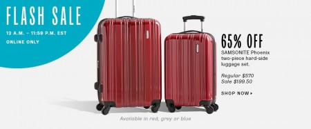 TheBay Flash Sale - 65 Off Samsointe Phoenix 2-Piece Luggage Set (Sept 24)