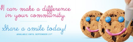 Tim Hortons $1 Smile Cookies are Back (Sept 15-21)
