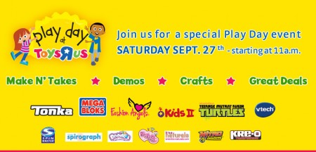 Toys R Us FREE Play Day Event Sept 27 starts at 11am)