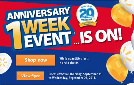 Walmart 1-Week Anniversary Event (Sept 18-24)