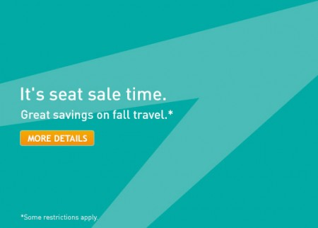 WestJet It's Seat Sale Time (Book by Sept 22)