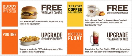 A&W New Printable Coupons (Until Oct 19)