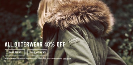 Abercrombie & Fitch 40 Off All Outwear (Until Oct 8)