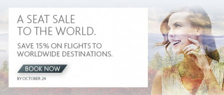 Air Canada 15 Off Worldwide Seat Sale (Book by Oct 24)